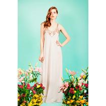 Vestido Largo De Fiesta Mujer Seda Parisbyflormonis