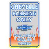 Aparcamiento Chevrolet Chevy Chevelle Coche Sólo Cartel De