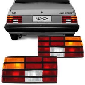 Lanterna Traseira Monza 88 89 90 Com Friso Preto - Acrilica