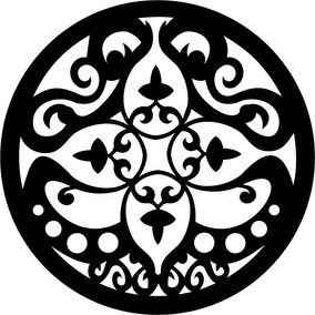 Mandala Mdf Decor Quadro Escultura Parede 50cm Pintada