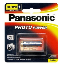 Bateria Pilha 3v Cr123a Lithium Photo - Lacrado Panasonic