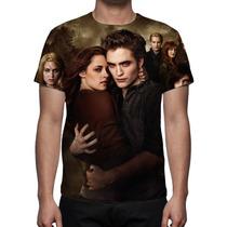 Camisa, Camiseta Crepúsculo Amanhecer - Estampa Frente Costa
