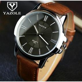 Relógio Yazole Social Pulseira D Couro Masculino Promoção