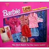 Juguete Barbie Lee Jeans Moda Modas 4 Lote - Fácil De Vesti