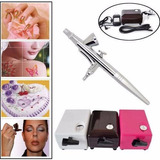 Kit Aerografo Compresor .4mm Maquillaje Artes Tortas Tatoo