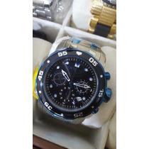 Relógio Invicta Pro Diver Em Aço Com Fundo Azul Ref 80044