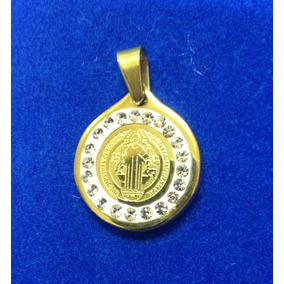Medalla San Benito Acero Inoxidable Envío Incluído