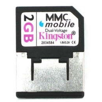 Cartão De Memoria Kingston Rs-mmc 2.0gb Com Adaptador
