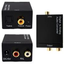 Convertidor Optico (fibra Optica) A Rca (analogo)