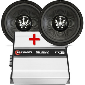 Kit 2 Subwoofer Magnum 12 800 + Amplificador Taramps Hd 1600