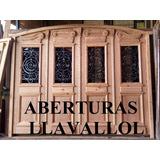 Porton En Pinotea Colonial Estilo Antiguo 4 Hojas 2.70x2.00