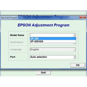 Reset Epson Xp320, Xp420, Xp424