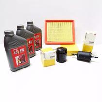 Kit Troca De Oleo + Filtros + Correias Acessorios Novo Palio