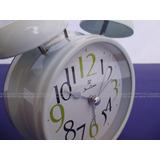 Reloj Despertador Jean Cartier C/luz Clasico D Metal A Pilas
