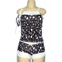Kit C/10 Short Doll Conjunto Baby Doll Com Renda Atacado