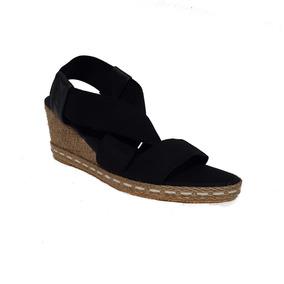 Sandalias De Mujer Elastizada Con Taco Chino (350)