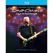 Blu-ray David Gilmour Remember That Night Royal Albert Hall