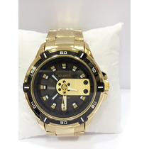 Relógio Masculino Atlantis Dourado Frete Grátis