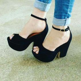 Sapatos Femininos Sandálias Plataforma Salto 12