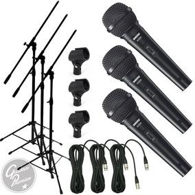 Microfono Shure Sv200 + Cable + Pie + Pipeta Combo X 3 Gtia