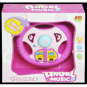 Brinquedo Para Bebê Volante C Luz E Som Angel Music