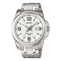 Reloj Casio Mtp1314 Acero Analogo Fechador Antirayaduras