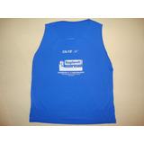 Regata Azul Para Corrida - 100% Poliester - Atletismo