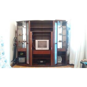 Estante Rudnik Para Sala De Estar Com Portas E Espaço P/ Tv