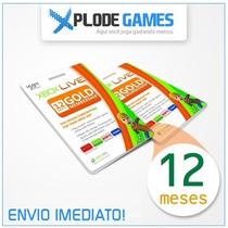Xbox Live Gold Brasil 12 Meses - Assinatura Xbox Live Gold