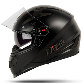 Cascos Nitro N 2200 Doble Visor Matt Black 2017 - Fas Motos