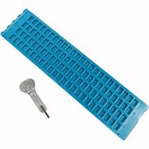 Reglete Positivo Escrita Braille 24c~4l+pun.infantil Azul C.