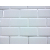Azulejo Para Piscina Cor: Branco Puro C/ Brilho 10x20 Bisotê