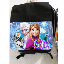 Mochila Escolar Personalizada Y Laptop Frozen, One Direction