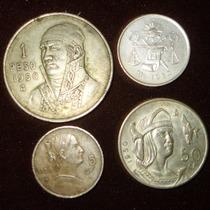 Cono Monetario 1 Peso 50, 25 Y 5 Centavos 1950
