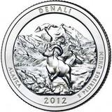 Moneda Cuarto Dolar Estados Unidos-denali Park-alaska - 2012