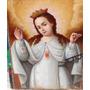 Antigua Pintura Oleo Virgen De La Merced Siglo Xviii /xix
