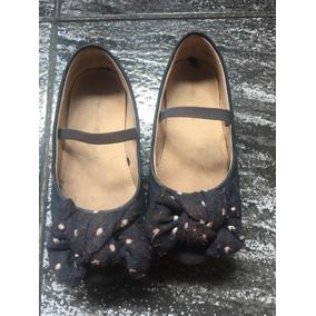 Zapatos Guillerminas Zara Talle 27 Azul Moño