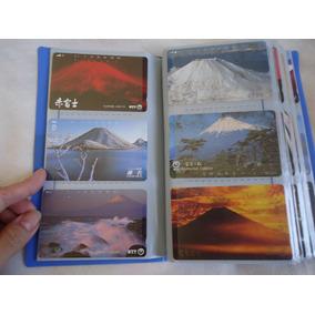 Coleção Cartão Telefônico Japonês C/ Álbum Completo + Brinde