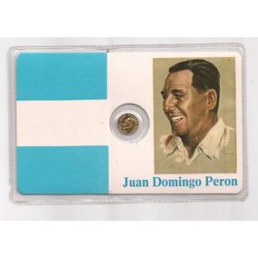 Medalla Dorada Al General Juan Domingo Peron Año 1986