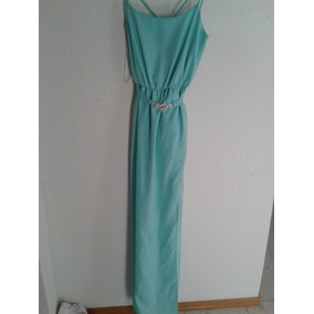 Remato Vestido Largo De Fiesta Color Aqua Liverpool