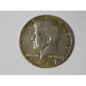  hds  Moneda Estados Unidos 1967 Half Dollar Kennedy Plata
