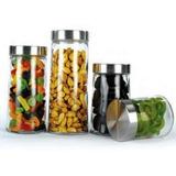 Potes Envases Cocina Vidrio Tapa Acero 4 Piezas Envio Gratis