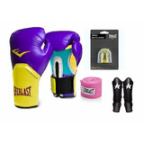 Kit Boxe/ Muay Thai Everlast Pro Style Elite Roxo+ Caneleira
