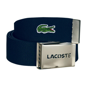 Cinturón Lacoste Signature Croc Azul Nuevo