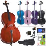 Cello Cecilio Chelo Accesorios 4/4 Varios Colores Mendini