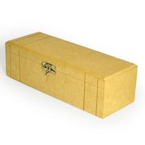 10 Caixa Porta Vinho C/ Feicho - Mdf Cru