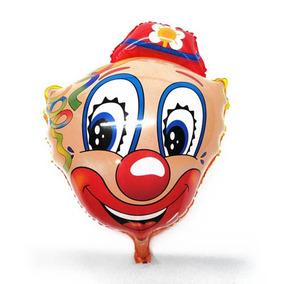 20 Balão Cara De Palhaço Para Gás Hélio Festa Palhacinho