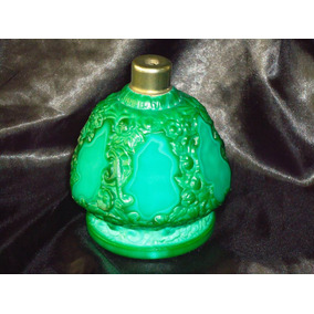 Raro,grande Perfumeiro Noveau Tcheco Em Malachite Glass,20