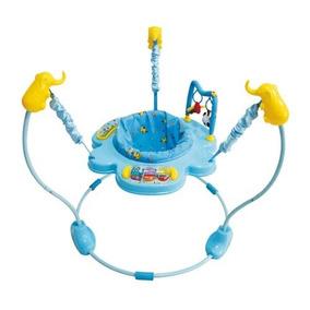 Baby Jumper Azul Dican Bebê Pula Música Luzes Pelúcias 45749