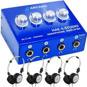 Arcano Retorno De Palco Amp De Fones + 4 Fones + 4 Extensors